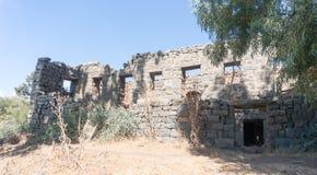 Rovine sulle alture del Golan di Israele Immagine Stock