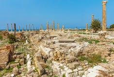 Rovine Tiro Sur Libano del sud di Romani Immagine Stock