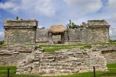 Rovine a Tulum, Messico immagine stock