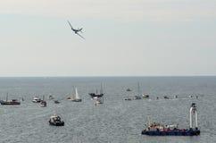 ROVINJ, ΚΡΟΑΤΊΑ - 13 Απριλίου 2014 αεροπλάνα έκθεσης στο Red Bull Στοκ Φωτογραφίες