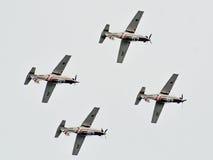 ROVINJ, ΚΡΟΑΤΊΑ - 13 Απριλίου 2014 αεροπλάνα έκθεσης στο Red Bull Στοκ φωτογραφία με δικαίωμα ελεύθερης χρήσης