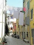 Rovinj, οδοί με την ξήρανση του πλυμένου κλωστοϋφαντουργικού προϊόντος, 6 Στοκ φωτογραφία με δικαίωμα ελεύθερης χρήσης