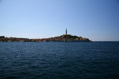 Rovinj. View from sea to city of rovinj Stock Images