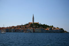 Rovinj. View from sea to city of rovinj Royalty Free Stock Photography