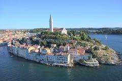 Rovinj aéreo Croatia Fotografia de Stock