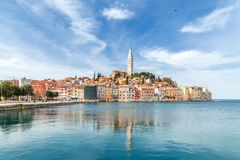 Rovinj on Adriatic sea in Croatia , Europe. royalty free stock photography