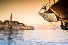 Rovinj as beautiful summer destination, Croatia Stock Images