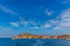 Rovinj, beautiful old town in Istria of Croatia, Europe stock photos