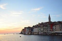 Rovinj Chorwacja zmierzch Obrazy Stock