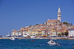 Rovinj city waterfront Stock Photos
