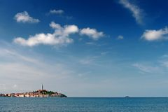 Rovinj and the clouds Stock Photo