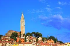 ROVINJ, croatia. The campanile of St. Euphemia's Basilica at historic center of Rovinj, Croatia Royalty Free Stock Image