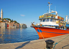 Rovinj in Croatia. In the harbour of Rovinj(Rovigno)in Istria,Croatia Stock Photography