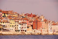 Rovinj, Croatia. Houses iat Rovinj in Istria, Croatia at the Adriatic sea Stock Photo