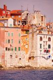 Rovinj, Croatia. Houses iat Rovinj in Istria, Croatia at the Adriatic sea Stock Image