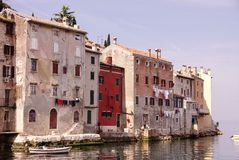 Rovinj, Croatia. Houses iat Rovinj in Istria, Croatia at the Adriatic sea Stock Images