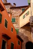 Rovinj, Croatia. Houses in the center of Rovinj in Istria, Croatia Stock Photos