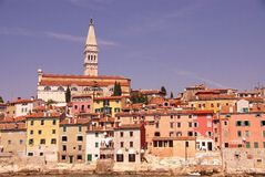 Rovinj, Croatia. The Saint Euphemia church in the center of Rovinj, Croatia Royalty Free Stock Images