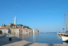 Rovinj, Croatia. Harbour and historical city royalty free stock photography