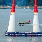 ROVINJ, CROATIA - APRIL 13 2014 airplane at Red Bull Air Race ev Royalty Free Stock Images