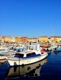 Rovinj, Croatia. Rovinj, beautiful city of Istria of Croatia. Crowded with boats and tourists stock images
