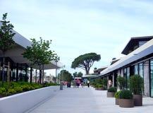 Rovinj, Croatia, May 25, 2019. Passage through the hotel complex in Croatian town of Rovinj royalty free stock photo