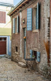 ROVINJ, CROATIA - MAY 29 2014: Tourist people walk the old town Royalty Free Stock Images