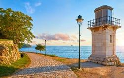 Free Rovinj, Croatia. Old Lighthouse At Sea Coast Stock Photography - 147236402