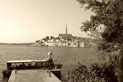 Rovinj - Croatia - sepia Royalty Free Stock Image