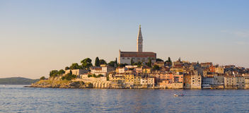 Rovinj at dusk Stock Images