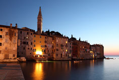 Rovinj at dusk, Croatia Royalty Free Stock Images