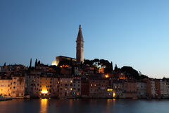 Rovinj at dusk, Croatia Royalty Free Stock Photography