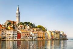 Rovinj en el mar adriático Imagenes de archivo