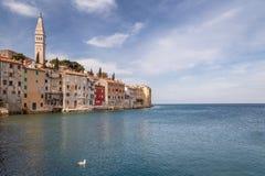 Rovinj en el mar adriático en Croacia Foto de archivo libre de regalías