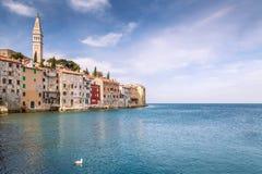 Rovinj en el mar adriático en Croacia Fotos de archivo
