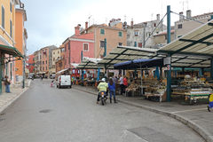 Rovinj Farmers Market Royalty Free Stock Photos