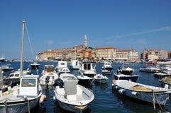 Rovinj hamn, Kroatien Royaltyfria Foton