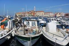 Rovinj hamn, Kroatien Arkivfoton