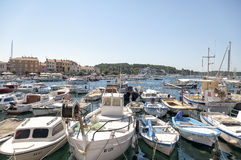 Rovinj harbor, Croatia Royalty Free Stock Images