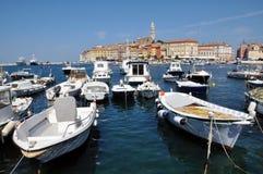 Rovinj harbour, Croatia Stock Photos