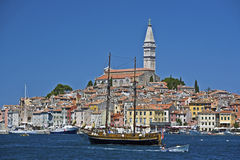 Rovinj harbour and waterfront Stock Photos
