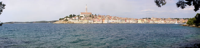 Rovinj - het panorama van Kroatië Royalty-vrije Stock Afbeeldingen