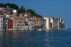 Rovinj houses by the sea Stock Photography