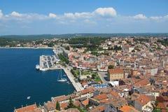 Живописный взгляд порта в Rovinj, Istra, Хорватии стоковые фотографии rf