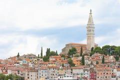 Rovinj, Istria, Κροατία - δείτε επάνω στην παλαιά πόλη Rovinj στοκ φωτογραφίες