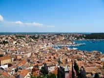 Rovinj, Istria, Croatia in summer. Aerial shot royalty free stock photos