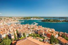 Rovinj, Istria, Croatia. Aerial shot. Rovinj, Istria, Croatia. Aerial shot view royalty free stock image