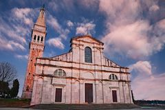 Rovinj, Istria, Croatia: the ancient church of St. Euphemia Stock Photo