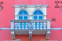 Rovinj, Istria, Croatia. Beatifull house with balcony in old town Rovinj, Istria, Croatia stock photography