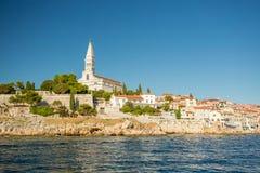 Rovinj, Istria, Croatia. View from the sea stock photo